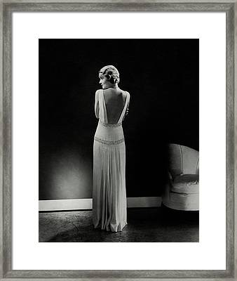 Constance Bennett As Seen From Behind Framed Print by Edward Steichen