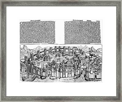 Constantinople, 1493 Framed Print