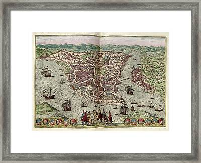 Constantinople Framed Print by Library Of Congress, Geography And Map Division