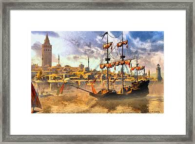 Framed Print featuring the digital art Constantinopoli Anno Domini 1533 by Kai Saarto