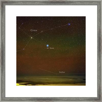 Constellation Grus Framed Print