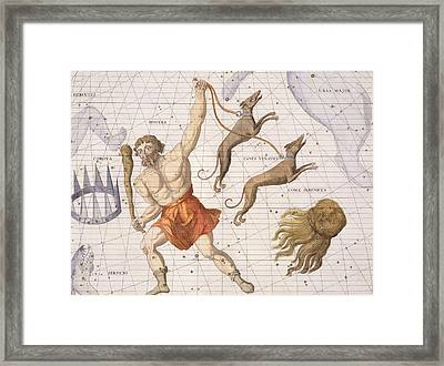 Constellation Of Bootes Framed Print by Sir James Thornhill
