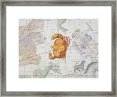 Constellation Of Cancer Framed Print by Sir James Thornhill