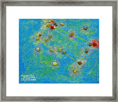 Constellation Of Gemini Framed Print by Augusta Stylianou