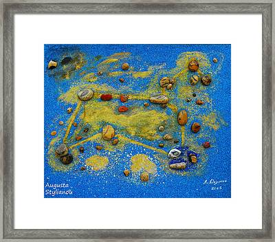 Constellation Of Leo Framed Print by Augusta Stylianou