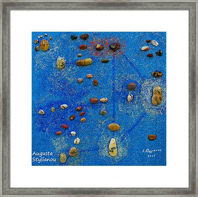 Constellation Of Libra Framed Print by Augusta Stylianou