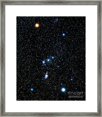 Constellation Of Orion Framed Print by John Chumack