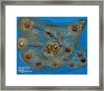Constellation Of Taurus Framed Print by Augusta Stylianou