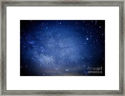 Constellations And Milky Way Framed Print