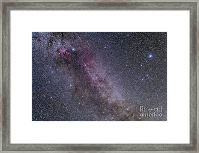 Constellations Cygnus And Lyra Framed Print