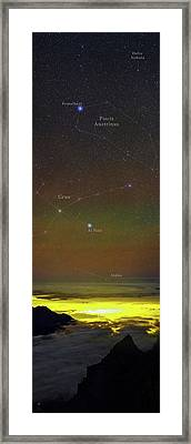 Constellations Over Clouds Framed Print by Babak Tafreshi