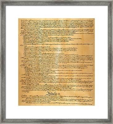Constitution, 1787 Framed Print