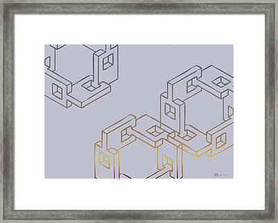 Construct Number Four Framed Print