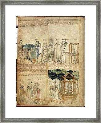 Constructing Noah's Ark Framed Print by British Library