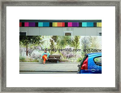 Construction 01 - Somewhere Under The Rainbow Framed Print by Pete Edmunds
