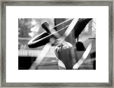Construction 02 - Shatterproof Dreams - Jcb Cab Bokeh Framed Print