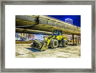 Construction At Rest Framed Print by Andrew Slater
