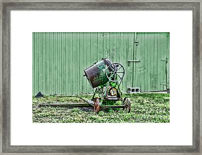 Construction - Cement Mixer Framed Print by Paul Ward