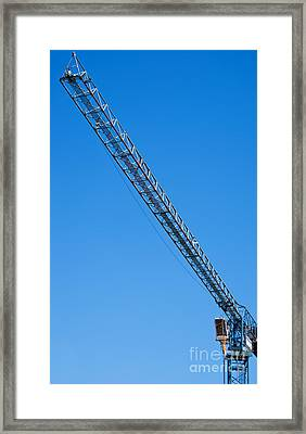 Construction Crane 01 Framed Print by Antony McAulay