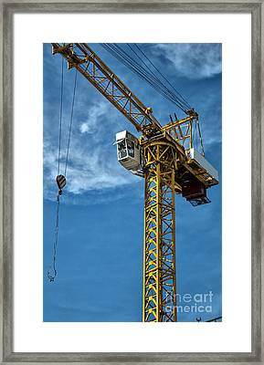 Construction Crane Asia Framed Print by Antony McAulay