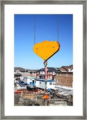 Construction Equipment Framed Print by Valentino Visentini