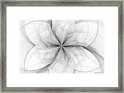 Construction Of A Flower Framed Print