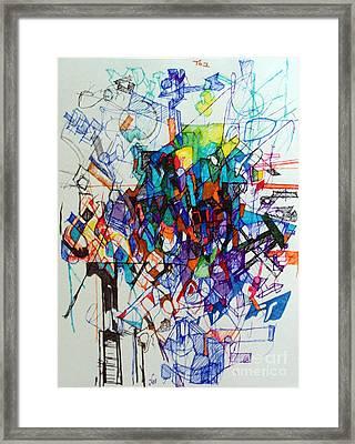 Construction Of Self 1 Framed Print by David Baruch Wolk