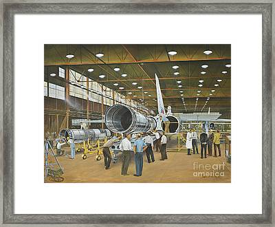 Construction Of The Dh.98 Mosquito Framed Print