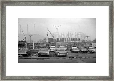 Construction Of The Ford Rotunda Framed Print