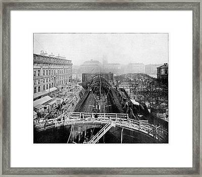 Construction Of The Paris Metro Framed Print by Cci Archives