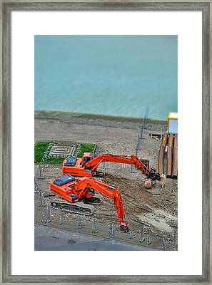 Construction Framed Print by Olivier Le Queinec