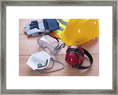 Construction Safety Equipment Framed Print by Tek Image