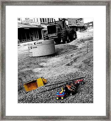 Construction Site Framed Print by   Joe Beasley