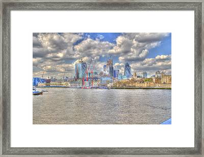 Construction Sites In The City Of London Framed Print by Ash Sharesomephotos