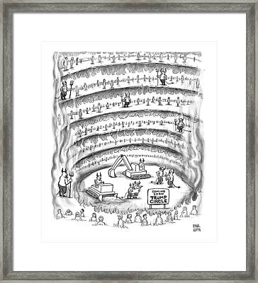 Construction Work In Hell Framed Print