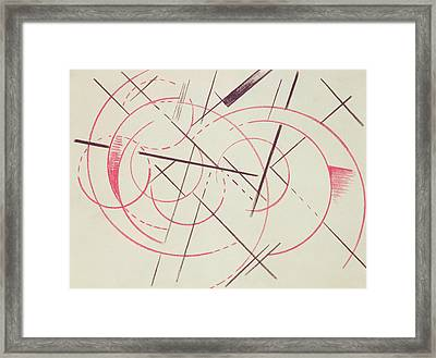 Constructivist Composition, 1922 Framed Print