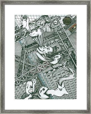 Framed Print featuring the painting A Constructor Of Time by Richie Montgomery