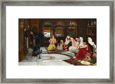 Consulting The Oracle Framed Print by John William Waterhouse