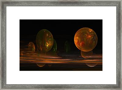 Framed Print featuring the digital art Consumed From Within by GJ Blackman