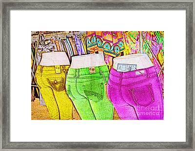 Consumer Nation Framed Print by Elena Nosyreva