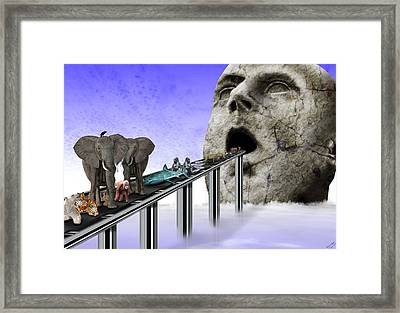 Consumerism Framed Print