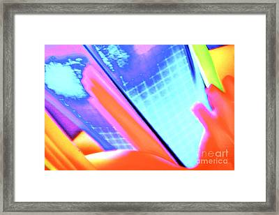 Consuming The Grid Framed Print by Xn Tyler
