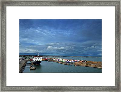Container Docks At The Mouth Framed Print by Panoramic Images