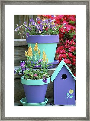 Containers With Sorbet Yellow Delight Framed Print by Richard and Susan Day