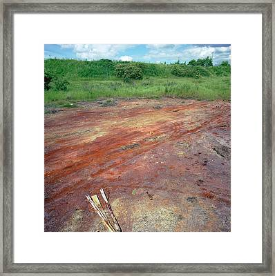 Contaminated Soil Framed Print by Robert Brook/science Photo Library