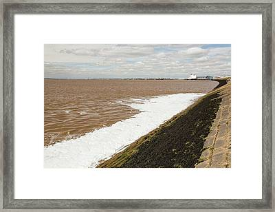 Contaminated Water Entering The Humber Framed Print by Ashley Cooper