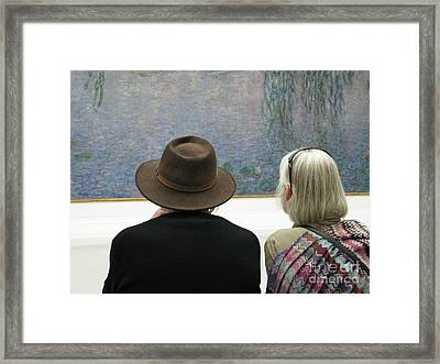 Contemplating Art Framed Print by Ann Horn