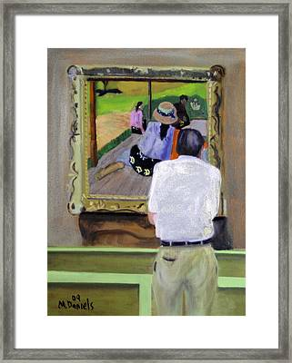Contemplating Gauguin Framed Print