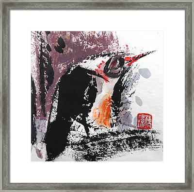 Contemplating Framed Print by Jing Chung
