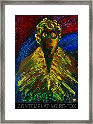 Contemplating Re-tox Framed Print